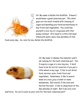 Election (Mock Election for Class Pet)