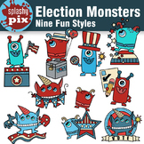 Election Monsters Clipart
