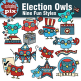 Election Owls Clipart