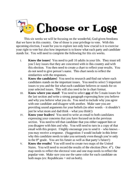 Election Project -Choose or Lose