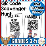 USA Election Vocabulary QR Code Activity