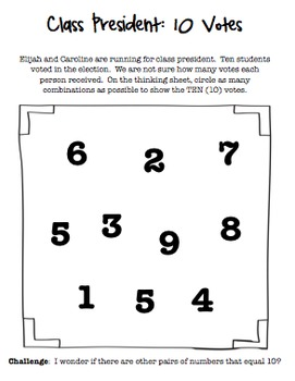 Election Themed Math Task (Center) Differentiated & Aligned to Common Core