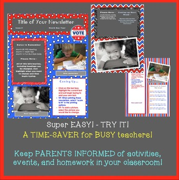 Election Themed Newsletter Template - A Time-Saver for BUSY Teachers