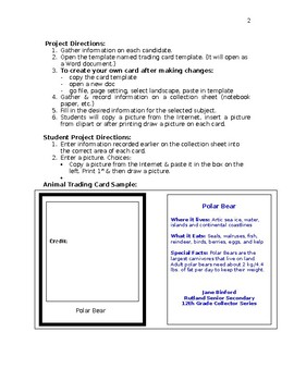 Election Trading Cards assignment with Template