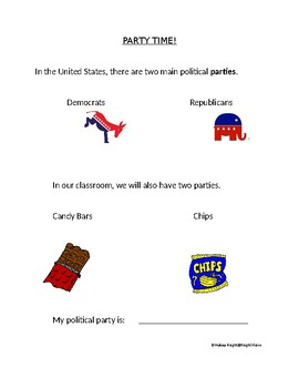 Election Unit:  Official Classroom Snack