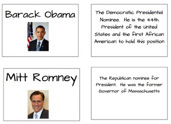 Election Vocabulary Cards with Pictures