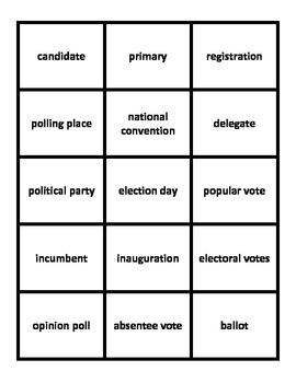 Election Vocabulary Flashcards