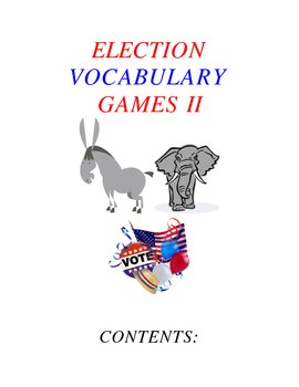 Election Vocabulary Games Part II