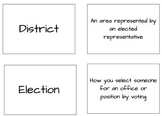 Election Vocabulary Matching Cards