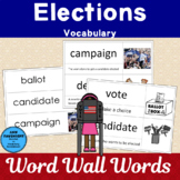 Elections Vocabulary Word Wall Words and Activities