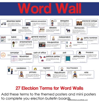 Election Vocabulary for Bulletin Boards and Word Walls
