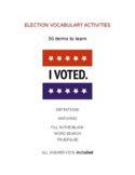 Election Vocabulary with 4 Activities