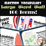 Election Word Wall - 100 Terms & Definitions