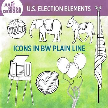 Election elements clip art