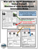 Election of 1800 Reading and Interactive Notes