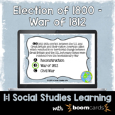 Election of 1800 - War of 1812 Interactive Task Cards