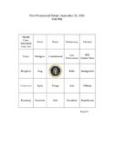 Election of 2016 Presidential Debate Bingo