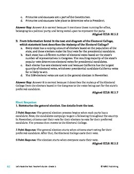 Election of the President - Informational Text Test Prep