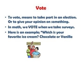 Election vocab for 2nd graders