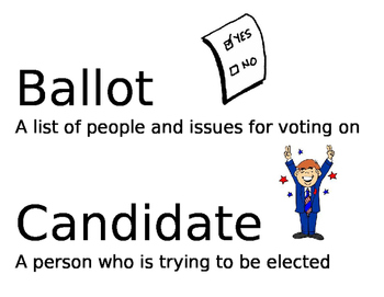 Election word wall cards