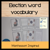 Election words vocabulary