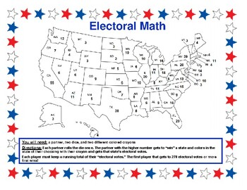 US Voting Election Math Election Math Game Electoral College