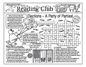 Elections: A Party of Parties Two-Page Activity Set
