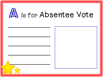 Elections: An A to Z Vocabulary Book Activity