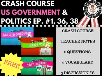 Elections Basics: Crash Course Government and Politics #1, 36, and 38