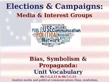 Elections & Campaigns - Bias, Symbolism & Propaganda - Vocabulary Exercise