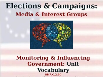 Elections & Campaigns - Monitoring & Influencing Government - Unit Vocabulary
