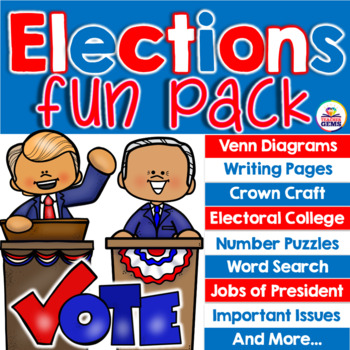 Elections Fun Pack Venn Diagrams Writing Pages Electoral College