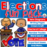 Election 2020 Fun Pack - Venn Diagrams, Writing Pages, Ele