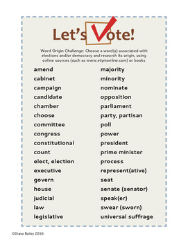 Democracy and Elections Language and Words