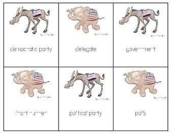 Elections: Vocabulary Receptive/Expressive Language Game