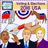 Elections & Voting 2016 USA - Candidates realistic clip art {Social Studies}