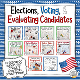 Elections, Voting, and Evaluating Candidates Bundle | 10 r