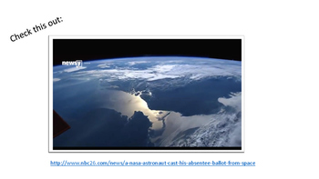Elections:  Voting from Space (Presentation)