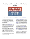 Elections: What Happens if there is a Tie in a Presidential Election?