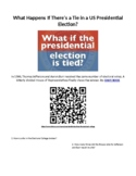 Elections: What Happens if there is a Tie in a Presidential Election? Web Quest