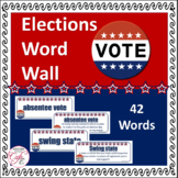 Elections Word Wall - Election Vocabulary