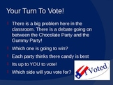 Elections and Voting Powerpoint Mock Voting
