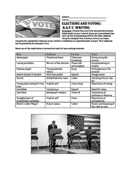 Elections and Voting RAFT Writing