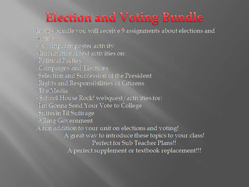 Elections and Voting Rights Bundle (No Prep)