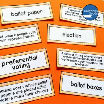 Elections in Australia Word Wall