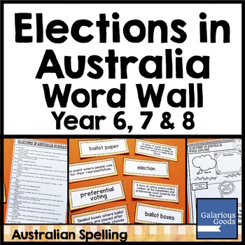 Elections in Australia Word Wall - Australian Government