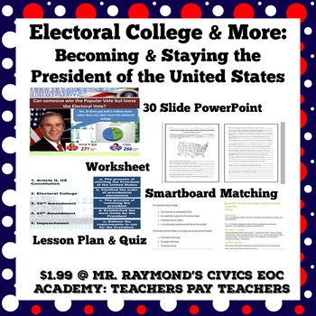 Electoral College & More: Becoming the President & Staying