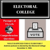 Electoral College Differentiated Reading Comprehension Pas