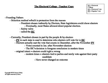 Electoral College Guided Notes