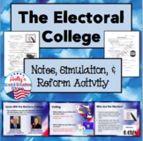 Electoral College- Lecture Notes, Simulation, and Reform Activity